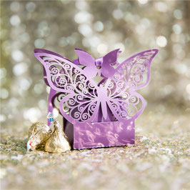 "#D Lasercut ""Schmetterling"" Schachteln, deep purple"