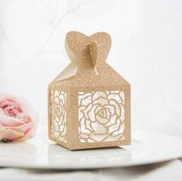 "#N Lasercut Schachtel ""Glittering Rose Gold"""