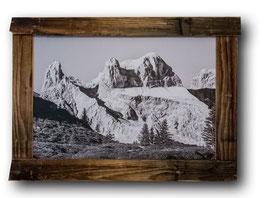 Drei Türme (Montafon/Österreich) im Unikat-Echtholzrahmen