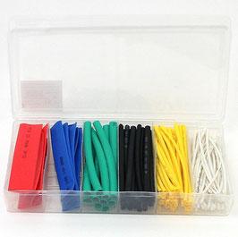 Schrumpfschlauch-Sortiment verschiedene bunte Farben 100-teilig