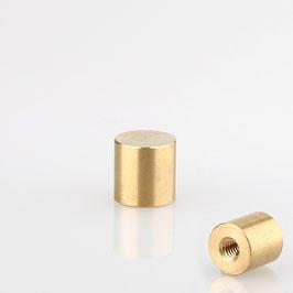 Lampen Abschlussknopf M4 Innengewinde 10x10 mm Messing roh