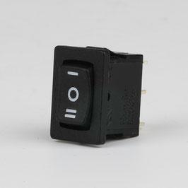 Einbau-Wippschalter Serie 3632 Schwarz 1-polig 19x13mm 250V/10A