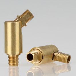 Lampen Dreh-Kippgelenk Messing roh M8x1 AG auf M8x1 AG 13x44mm