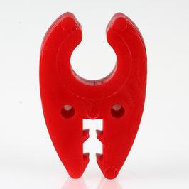 Kabelhalter für 10er Rohr 32x21x7mm rot Kabel bis 5,5mm
