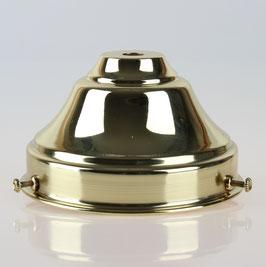 Lampenschirm Glashalter 110x65mm Messing poliert für E14 und E27 Fassung