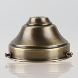 Lampenschirm Glashalter 110x65mm Antik Fume für E14 und E27 Fassung