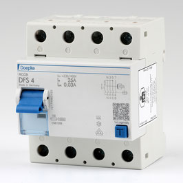 Doepke FI-Schutzschalter Fehlerstromschutzschalter 4-polig 25A