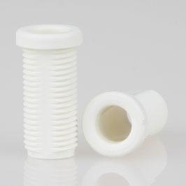M10x1 Trompetennippel 12x22,5mm Kunststoff weiß Länge 20mm mit Verdrehschutz