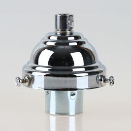 Lampenschirm Glashalter 58x35mm verchromt mit E14 Fassung