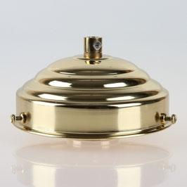 Lampenschirm Glashalter 111x45mm Messing poliert mit E27 Fassung