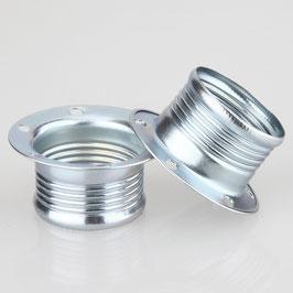 2x E14 Schraubringe Metall chromfarben 43x20 mm für Metallfassung