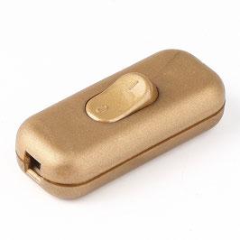 Schnurschalter Schnur-Zwischenschalter gold 60x26mm 250V/2A für Flachkabel