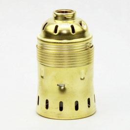 E40 Metall Lampenfassung Messing gebeizt passiviert