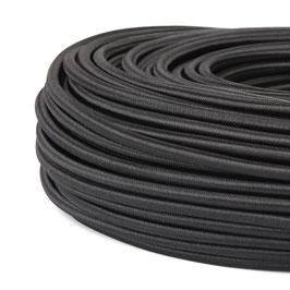 Textilkabel-Stoffkabel schwarz 3-adrig 3x0,75 mit Stahlseil zur Zugentlastung