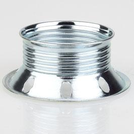 E27 Unterring Schraubring Metall verchromt 60x25 mm für Metallfassung