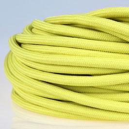 Textilkabel Stoffkabel gelb 3-adrig 3x0,75 Zug-Pendelleitung S03RT-F 3G0,75