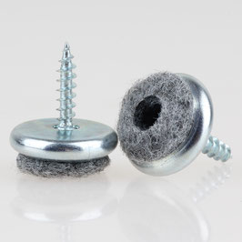 Filzgleiter 18 mm Metall mit Schraube für Holzstühle