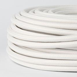 Textilkabel weiß 5-adrig 5x0,75 mm² mit Stahlseil als Zugentlastung