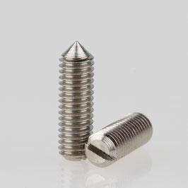 M3 Madenschraube Metall verzinkt mit Spitze DIN 553 Länge 10mm (10 Stück)