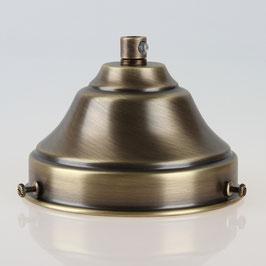 Lampenschirm Glashalter 110x65mm Antik Fume mit E27 Fassung