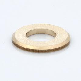 Unterlegscheibe 20x10,5x2,0 mm Messing für (M10x1 Gewinderohr)