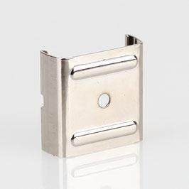 Stromschienen-Clip 32x30x11 (Eutrac-Schiene) für Seilstopper vernickelt