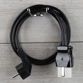 1,5m Gerätestecker Anschlussleitung schwarz 3x1,0mm² für alte Toaster Bügeleisen Waffeleisen