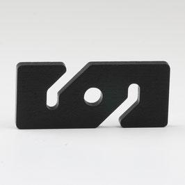 Höhenverstellung Kabelkürzer eckig schwarz für Textilkabel Pendelleuchte