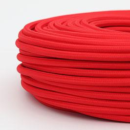 Textilkabel-Stoffkabel rot 3-adrig 3x1,0 mit Stahlseil zur Zugentlastung
