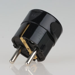 zwei Erdleitersystem Schutzkontakt-Stecker schwarz 250V/16A