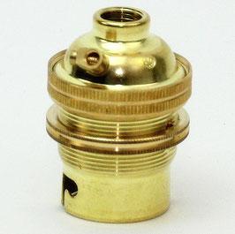 B22d Bajonett Metall Lampenfassung vermessingt M10x1 Innengewinde