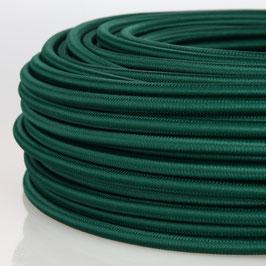 Textilkabel Stoffkabel dunkelgrün 3-adrig 3x0,75 Schlauchleitung 3G 0,75 H03VV-F