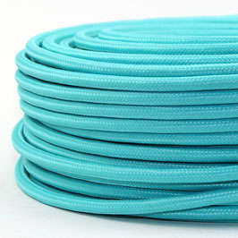 Textilkabel Stoffkabel türkis mint-grün 3-adrig 3x0,75 Schlauchleitung 3G 0,75 H03VV-F