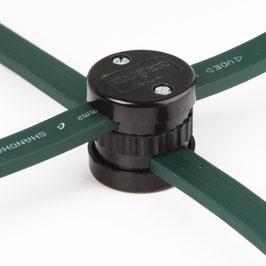 Abzweigdose schwarz für 5x13 mm Illu-Flachkabel