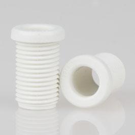 M10x1 Trompetennippel 12x17,5mm Kunststoff weiß Länge 15mm ohne Verdrehschutz