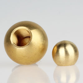 Metall-Kugel Messing roh 30 mm Durchmesser mit M10x1 Sackgewinde
