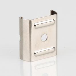 Stromschienen-Clip 30x28x11 (Eutrac-Schiene) für Seilstopper vernickelt