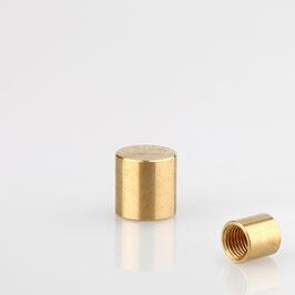 Lampen Abschlussknopf M8x1 Innengewinde 10x10 mm Messing roh