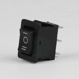 Einbau-Wippschalter schwarz 1-polig 20x13mm 250V/10A