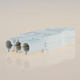 Schnellmontage Steckverbinder für individuelle Verbindungsleitungen Steckerteil 230V/16A weiß