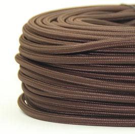 Textilkabel Stoffkabel braun 3-adrig 3x0,75 Schlauchleitung 3G 0,75 H03VV-F