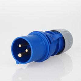 PCE CEE Stecker 3-polig 16A/230V IP44 blau