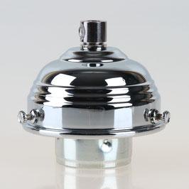 Lampenschirm Glashalter 70x39mm verchromt mit E27 Fassung