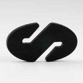 Höhenverstellung Kabelkürzer oval schwarz für Textilkabel Pendelleuchte