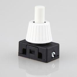 Lampen Einbauschalter Einbau-Druckschalter weiß 250V/2A 12 mm Achse 1-polig