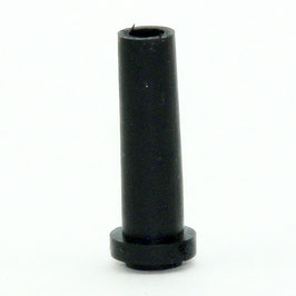 Knickschutz-Tülle schwarz mit Haltewulst