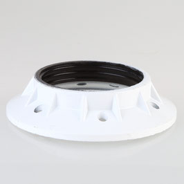 E27 Bakelit Schraubring weiß lackiert 65x15 mm