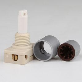 ProduktnameLampen Einbauschalter Einbau-Druckschalter silber 250V/2A mit Spezialknopf