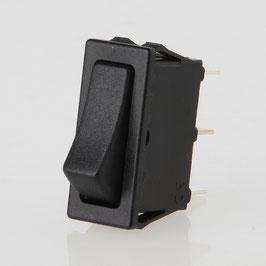Wippschalter schwarz 1-polig 30x11 mm 250V/16A ohne Mittelstellung