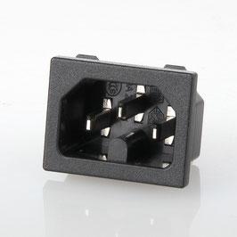 Heißgeräte-Einbaustecker schwarz 250V/10A Lagrange C072287